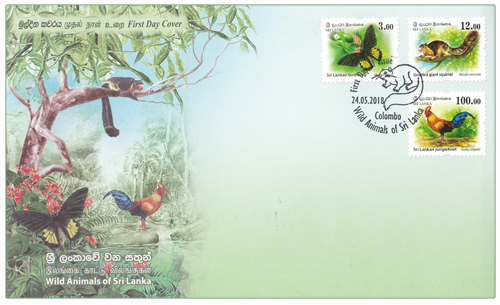 Wild Animals of Sri lanka(FDC)  - 2018