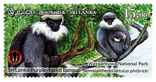 National Parks of Sri Lanka - Wasgamuwa National Park(4/6) - 2019(Sri Lanka Purple - Faced Langur)