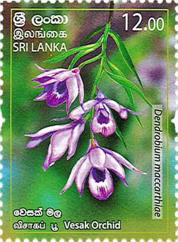 Provincial Flowers of Sri Lanka(Vesak Orchid) - 2019 (Series II)