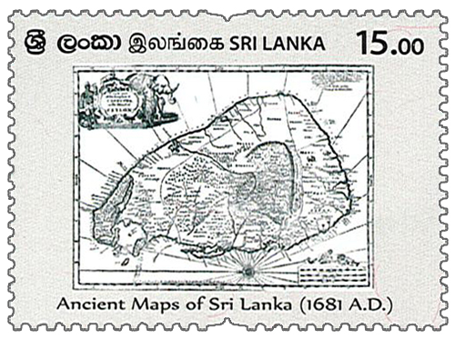 Ancient Maps of Sri Lanka - 2020 (1681 A.D)