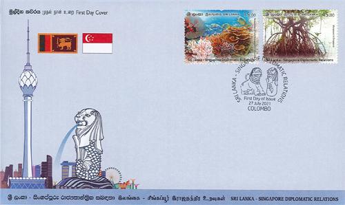 Sri Lanka - Singapore Diplomatic Relations (FDC) 2021